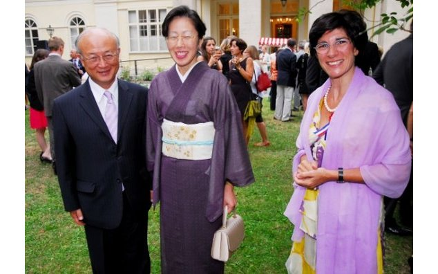 Mr Amano, director general of the IAEA and H.E Florence Mangin