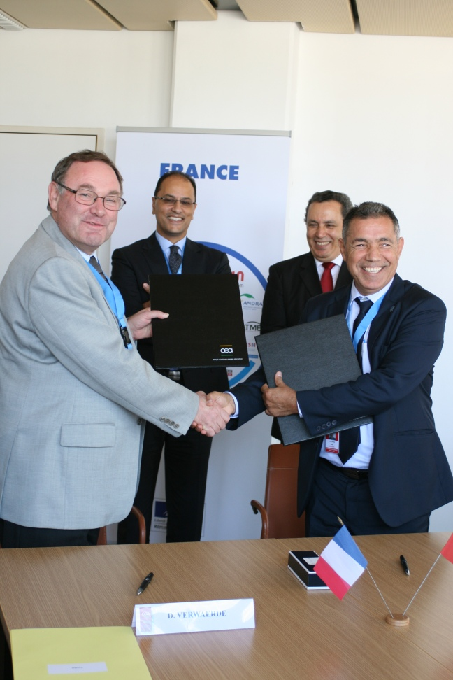 "Signature de l'accord ICERR ""affiliate"" entre la Tunisie et la France - JPEG"