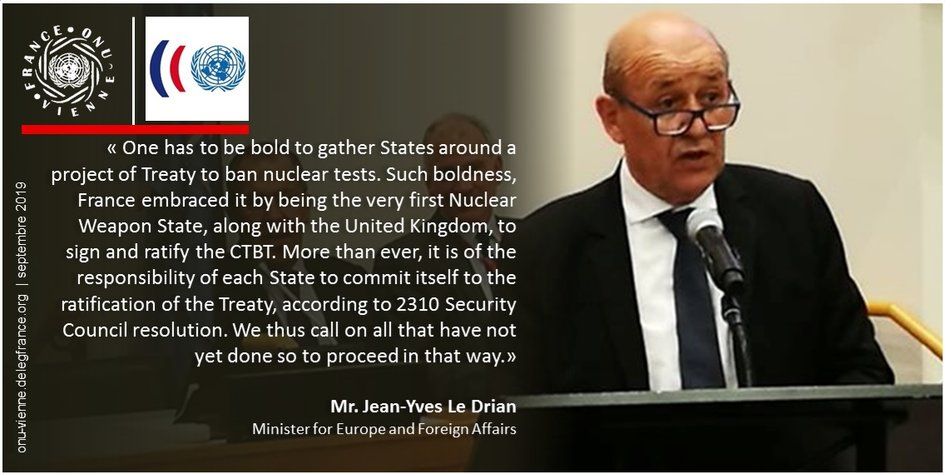 Statement by Mr. Jean-Yves Le Drian, Minister for Foreign Affairs - JPEG