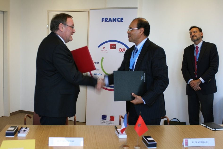 "Signature de l'accord ICERR ""affiliate"" entre le Maroc et la France - JPEG"